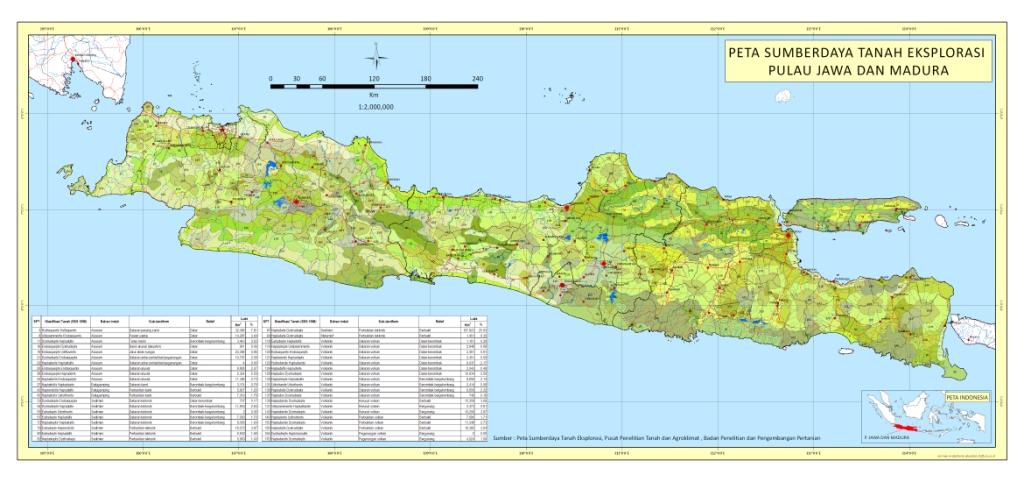 Peta Sumberdaya Tanah Eksplorasi Pulau Jawa Madura Digitize Gambar Skala