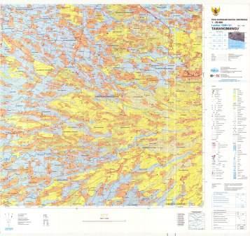Peta Rupa Bumi Indonesia Lembar Tawangmangu  1508-131
